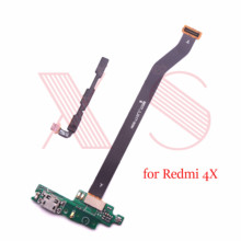power volume sidebutton mother main board USB charging charger microphone connector board flex cable For xiaomi Redmi 4X