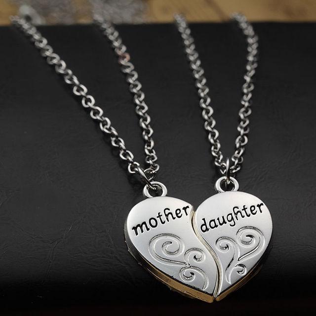 Mother & Daughter Heart Design Pendants