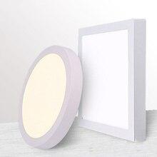 9 Вт/15 Вт/25 Вт квадратная Светодиодная панель для поверхностного монтажа, светодиодный потолочный светильник AC85-265V+ светодиодный драйвер