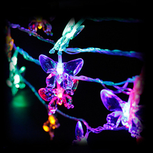 9/10M LED ButterflyString ライト LED 妖精ライトクリスマスウエディングデコレーション米国のプラグイン 220V 操作 8 モードライト