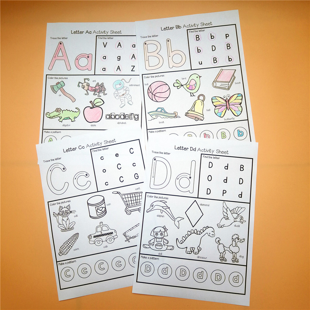 Home Latest Collection Of 130pcs 5 Plays Fun Writing Homework Notebook 26 Alphabet Worksheets Learning Paper English Workbook Kids Education Toys Children