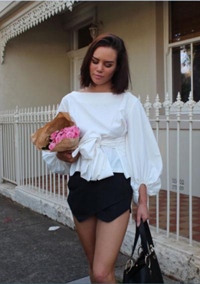 HTB1ffNwPVXXXXXyXpXXq6xXFXXXP - Shirts Women Tops Long Sleeve Lantern Sleeve Blouse