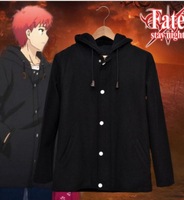 Anime Fate Stay Night Cosplay Costume Emiya Shirou Black Casual Coat Clothes Cosplay Costume Halloween Carnival Cosplay Costumes