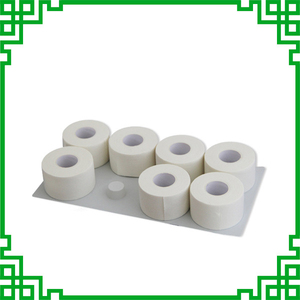 Image 3 - High Viscosity White Fine Cloth Medical Sports Tape Waterproof Cotton Serrated Tapes Can Be Customized