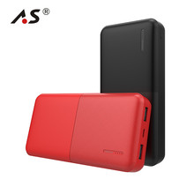 A.S 20000mAh Portable Power Bank 2 USB Ports Mobile Charger External Battery Pack for iPhone Samsung Galaxy Smartphones Tablet