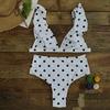 2018 Dot Bikini Set Sexy Bathing Suit Cute Swimwear Women Swimsuit Ruffle Shoulder Brazilian Bikini High Waist Maillot De Bain 3
