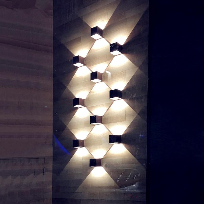 parede arandela interior iluminacao decorativa varanda jardim luzes parede lampadas 04