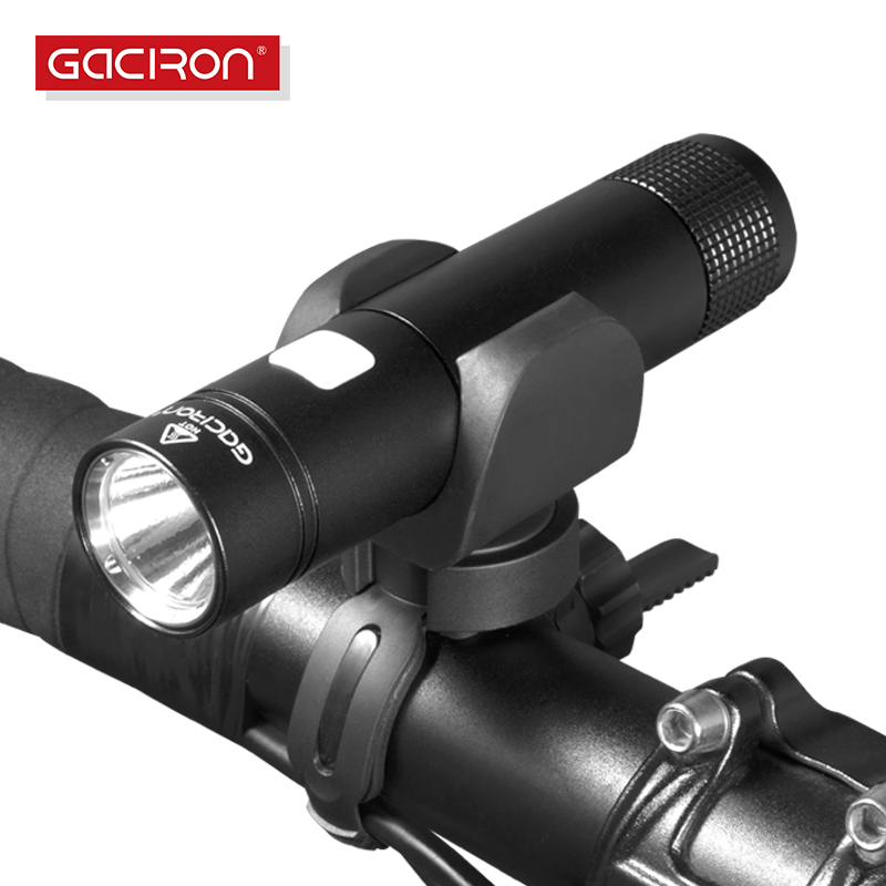 GACIRON Bike Accessories Bicycle Torch Light Waterproof USB Rechargeable Handlebar LED Front Light Flashlight 650 Lumen gaciron 1000lumen bicycle bike headlight usb rechargeable cycling flashlight front led torch light 4500mah power bank for phone