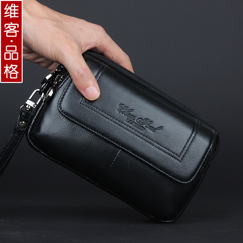 100% guarantee genuine leather men day clutches bag real cowhide casual men wrist bags with high quality fashion hand bag yuanyu 2018 new hot free shipping real python leather women clutch women hand caught bag women bag long snake women day clutches