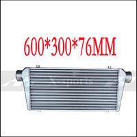 Car Cooling System Turbo Parts Radiator Intercooler Front Mount Universal High Quality Aluminum Silver Core Body 600*300*76