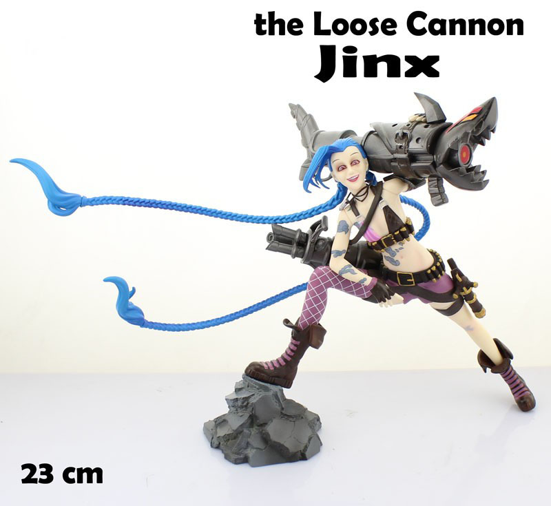 Free Shipping 9 Game the Loose Cannon - Jinx Boxed 23cm PVC Action Figure Collection Model Doll Toy Gift santic women cycling shorts black spandex pro padded 2017 triathlon running sleeveless mtb road bike bicycle shorts skinsuit