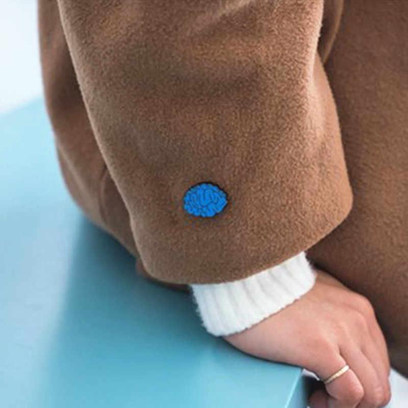 Fashion Drop Minyak Tubuh Manusia Organ Bros Korsase Mata Bros Gigi Brain Heart Bros Pin untuk Wanita Perhiasan