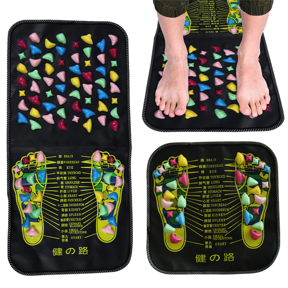 Reflexology Massage Mat Foot Stone Leg Pain To Relieve Walk Massager Mat Health Care Acupressure Pad Massageador aptoco chinese reflexology walk stone pain relieve foot leg massager mat health care acupressure