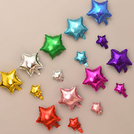 10/20 шт./лот 5/10 дюймов воздушные шары из фольги в форме сердца со звездами, вечерние воздушные шары для украшения свадеб, дней рождения, надувн...