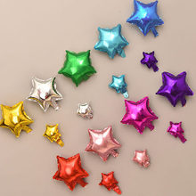 10/20pcs/lot 5/10inch Star Heart Foil Balloons Wedding Birthday Party Backdrop Decor Air Inflatable Globos Child Gift Toy Supply