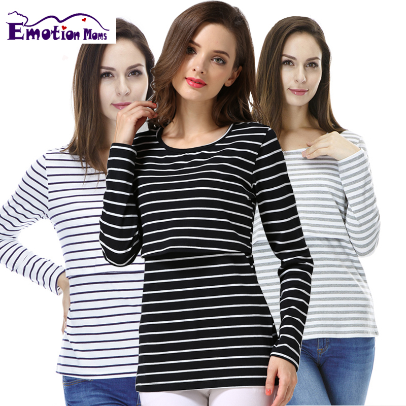 Emotion Moms Long sleeve Maternity clothes maternity shirt Breastfeeding Tops Nursing Top pregnancy clothes for Pregnant