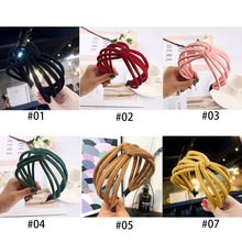 New Wide Hairband for Women Hair Accessories Headband Knot Fabric Head Hoop Face Washing/Make Up Girls