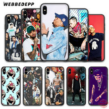WEBBEDEPP Chris Brown hih pop Zachte Siliconen Case voor iPhone 8 7 6S 6 Plus 11 Pro XS Max XR X 5 5S SE Back Shell(China)