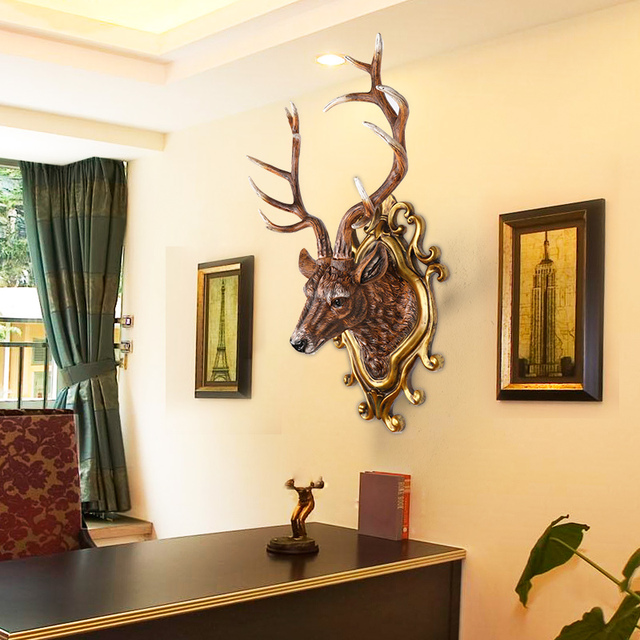 The European deer living room wall decoration wall hanging pendant ...