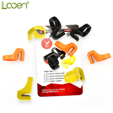12 Pcs/set Looen Mix Colors Sewing Thimble Plastic Ring with knife THREAD Cutter,Quilting Thread Cutter DIY Tools