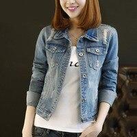 Jackets Spring Coat Women Jacket Denim Plus Size 4xl 5xl Hole Streetwear Frayed Slim Harajuku Jeans Overcoat Basic Summer Jacket