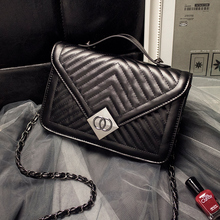 QISU Lady Mini crossbody bag Flap handbag with lock Diamond Lattice tote with chain strap for lady