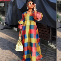 2019 fashion african dresses for women casual checkered large size summer dashiki african kanga clothes africa dress sale
