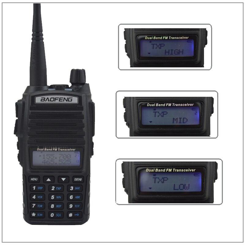 8 W Puissance De Sortie Élevée UV-82 Baofeng Radio Talkie Walkie Double Bande 136-174 MHz et 400-520 MHz Jambon Émetteur-Récepteur Radio Baofeng UV 82