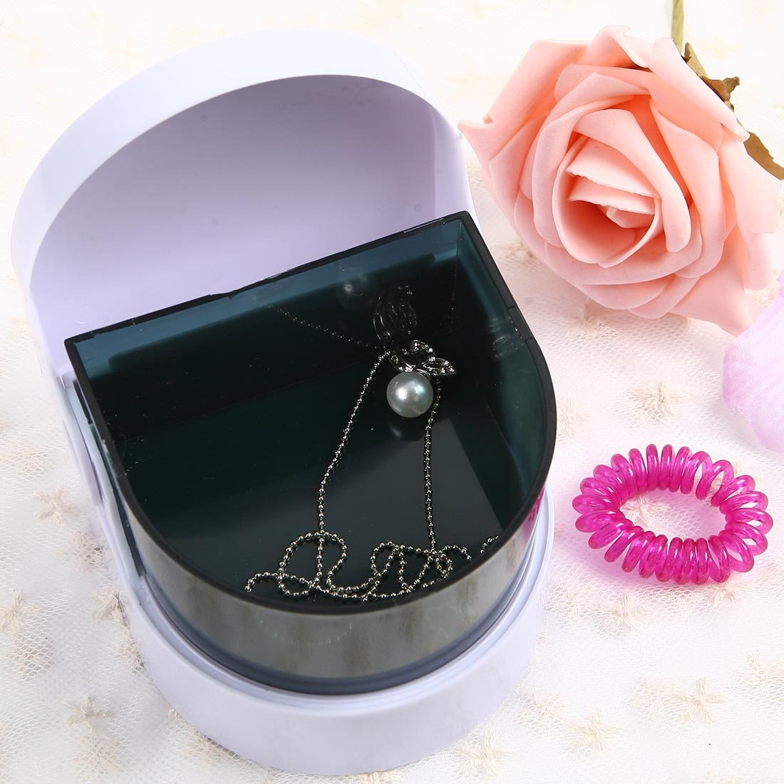 Mini contact lens Contact lenses box automatic cleaning ultra sonic cleaner myopia glasses Ultrasonic cleaning machine pocket mini contact lens case