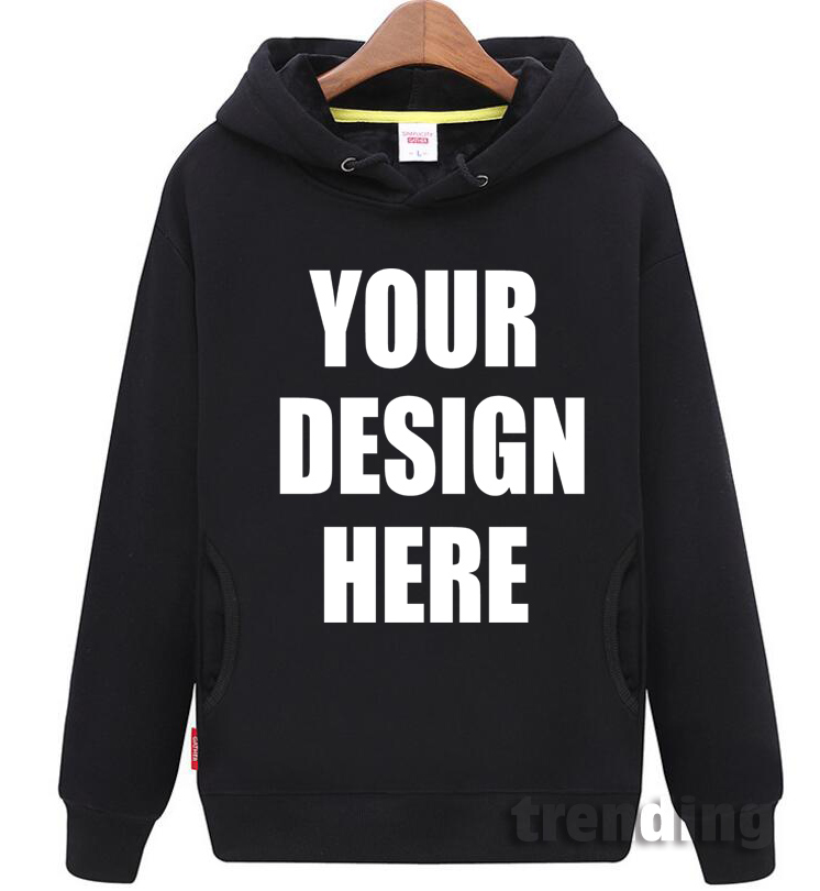 Designer Sweatshirt Hoodie Logo Customized-Pattern Personalized DIY Man Women