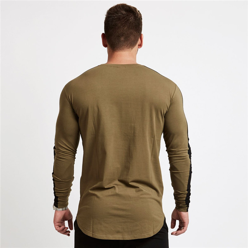 men long sleeved t shirt gyms Fitness-10