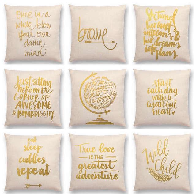 gold art decorative letter brave confidence hope love forceful warm