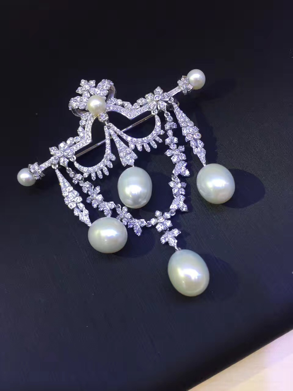 natural fresh water pearl brooch pins 925 sterling silver tear drop high quality blingbling fine women jewelry free shipping natural fresh water pearl brooch pins 925 sterling silver with cubic zircon vintage victoria tear drop shape free shipping