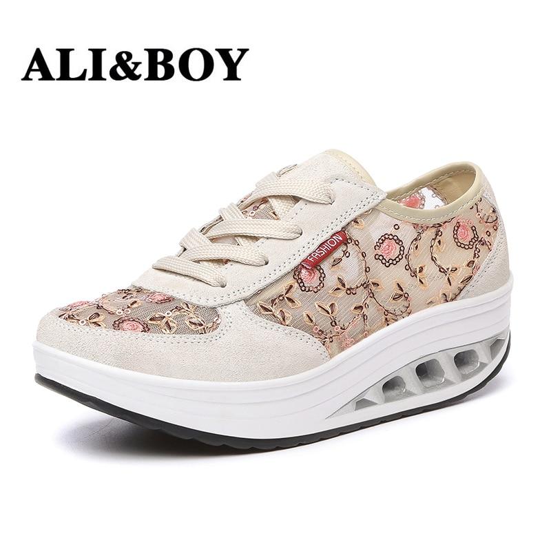 ALIBOY Shake toning shoe walking women platform shoes font b weight b font font b loss