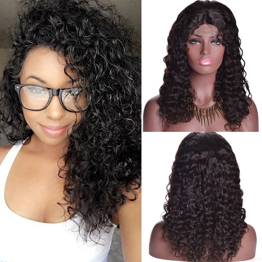 7a Lace Front Human Hair Wigs Brazilian Water Wave Virgin