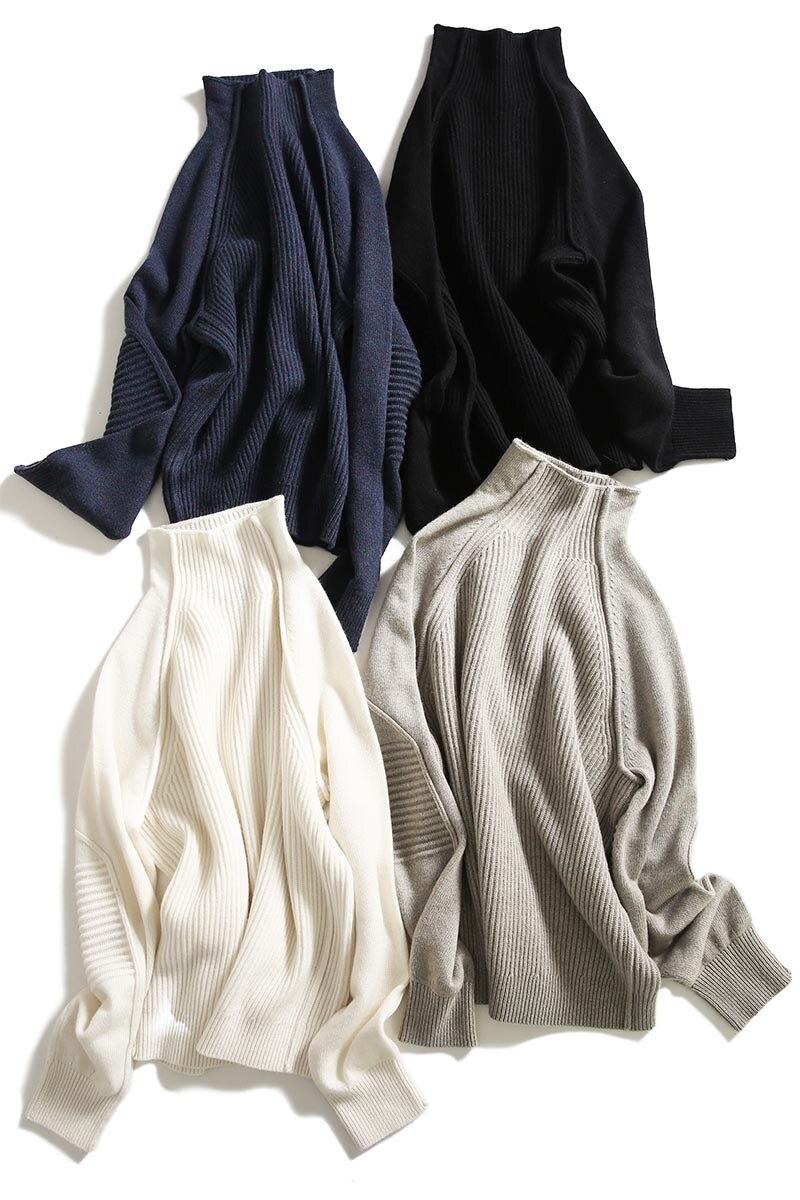 blanc marine En Femelle Taille Chandail Haute Pull caramel Plus Pulls Col Bleu Roulé Qualité Épais Femmes 5 gris 2018 Automne Tricots La Noir Couleurs Tricoté Cachemire Sqw87nFgx