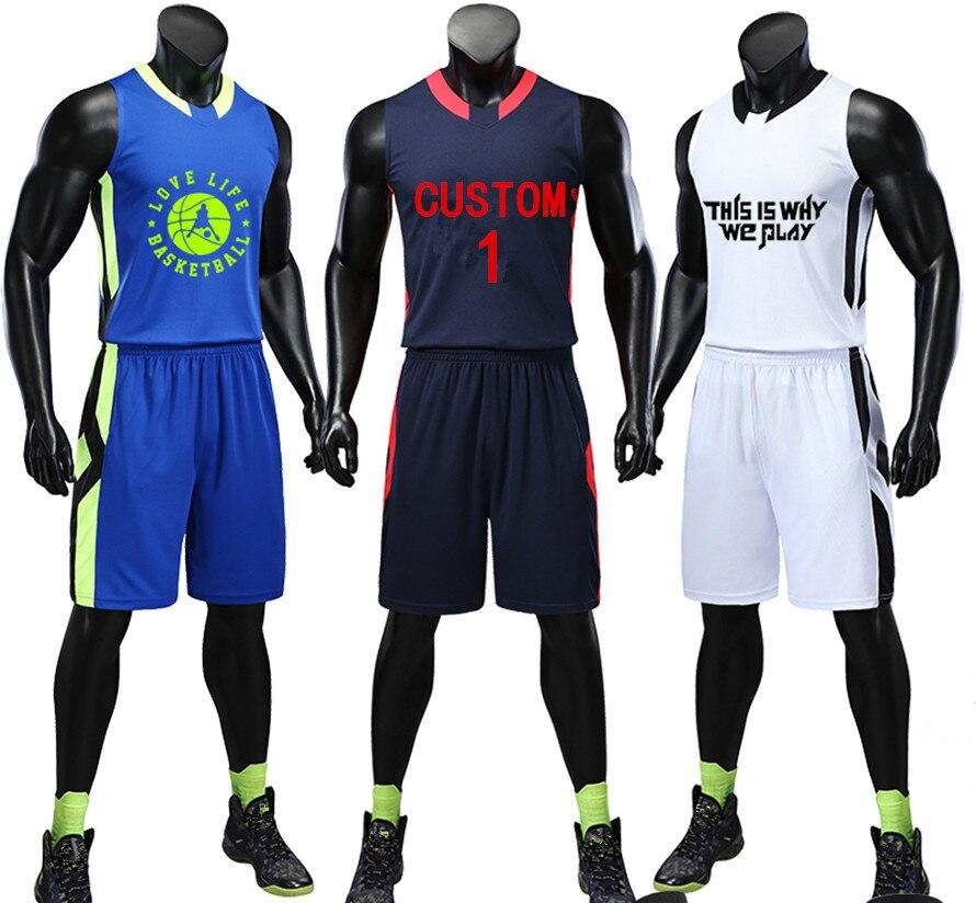 0bf67869e2d ZMSM 2018 Adult Basketball jerseys Sets Men s Breathable Sportswear Vest  Basketball Shirts shorts Custom Training uniform LQ177-in Basketball Jerseys  from ...