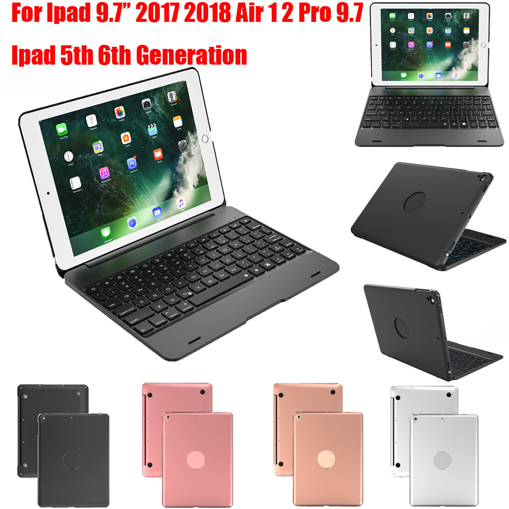 Top Flip Keyboard for Apple iPad 9.7 2017 2018 5th 6th Generation Bluetooth Keyboard Case for iPad Air 1 2 5 6 Pro 9.7 #T30G