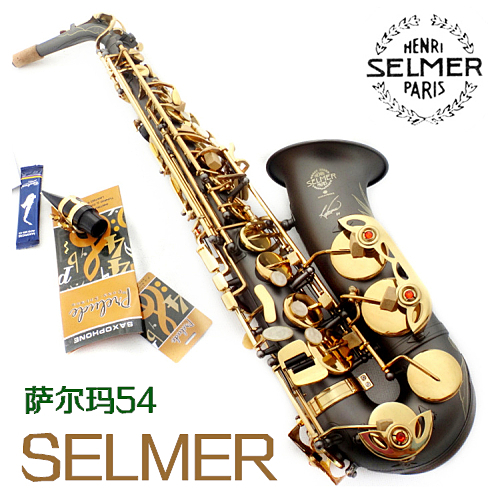 High Quality Saxophone Alto Sax Selmer 54 Professional E-flat Alto Saxophone Musical Instruments Black Nickel Gold alto saxophone selmer 54 brass silver gold key e flat musical instruments saxophone with cleaning brush cloth gloves cork strap