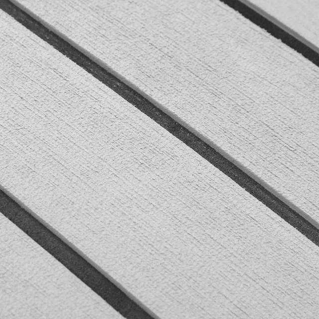 1200mm x 2400mm EVA espuma Faux teca hoja barco RV yate sintético teca Decking 47 pulgadas x 95 pulgadas 5mm gris