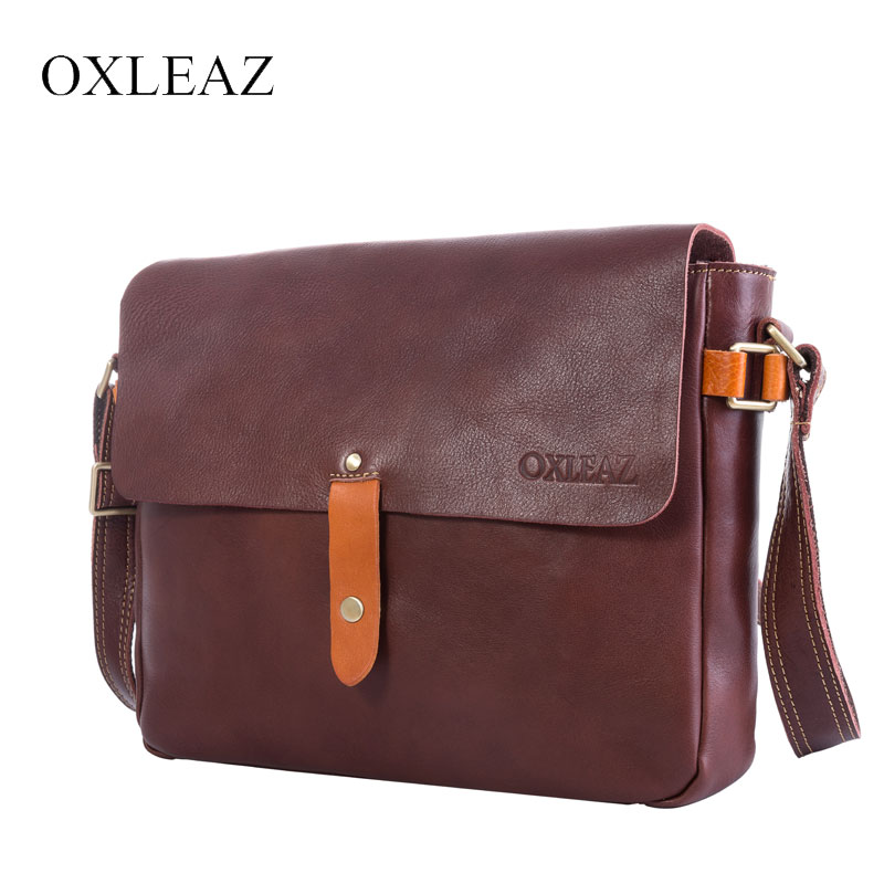 OXLEAZ Genuine Cow Leather Crossbody Bags Students Satchels Vintage Brand Mens Messenger Bags Man Bag Shoulder Bag for MenOXLEAZ Genuine Cow Leather Crossbody Bags Students Satchels Vintage Brand Mens Messenger Bags Man Bag Shoulder Bag for Men