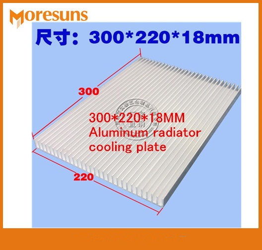 Fast Free Ship Wide and big aluminum radiator 300*220*18MM Aluminum radiator cooling plate Electronic Power Amplifier Heat Sink fast free ship module heatsink 140 12 5 50mm pure aluminum electronic radiator power amplifier cooling plate