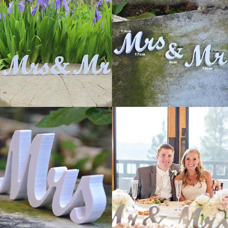 Творческий Mr & Mrs буквы Банкетный свадьбу Декор знак реквизит поставляет