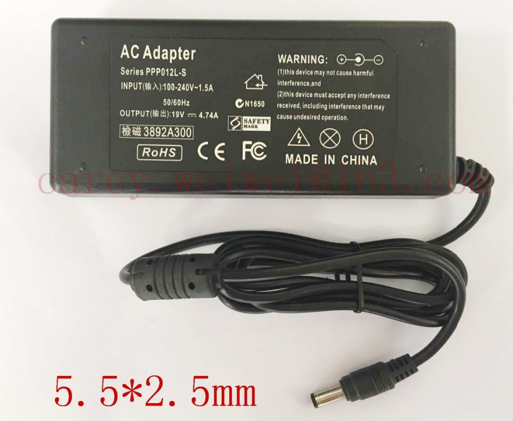 10PCS AC Power Supply 19V 4 74A Notebook Adapter Charger For asus A46C M50 X43B A8J