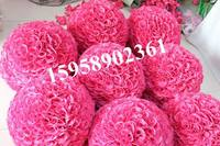 SPR 50cm wedding artificial silk flower ball plastic inner purplish red or plum or hot pink kissing ball bride flower