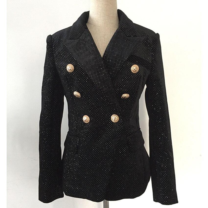 Vêtements Velours De Boutons Argent Ol Femmes Designer Lion D'affaires Blazer Date Manteau Shimmer 2019 Noir Costumes Métal Veste En Travail A7fwzqaS
