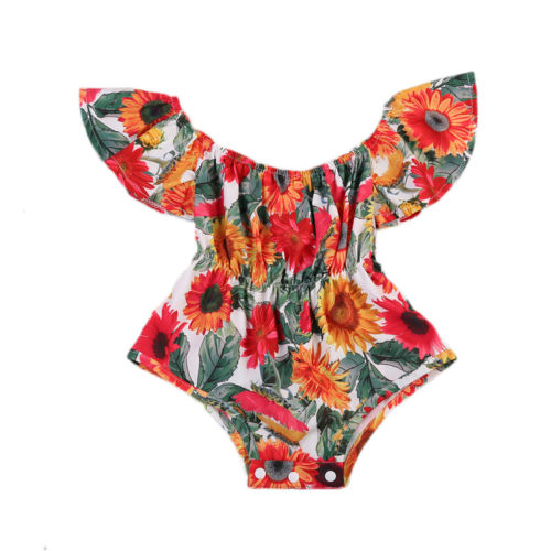 Cute Newborn Baby Girl Clothes Romper Floral Jumpsuit Sunflower Clothing Sunsuit Outfits 6/12/18/24 Months pudcoco newborn baby girl clothes 2017 summer sleeveless floral romper backless jumpsuit sunsuit children clothes