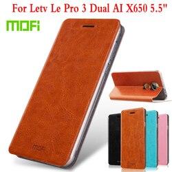 M Mofi For LeEco Le Pro 3 Dual AI Case Flip Leather Stand Case For Letv LeEco Le Pro 3 Dual AI X650 5.5
