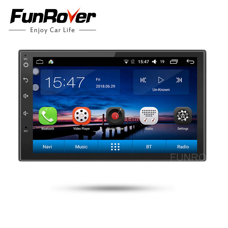 Funrover 7 2 Din Android 8.0 Car Multimedia Video radio tape recorder Player Tap PC Tablet GPS Navigation Stereo RDS usb No DVDFunrover 7 2 Din Android 8.0 Car Multimedia Video radio tape recorder Player Tap PC Tablet GPS Navigation Stereo RDS usb No DVD