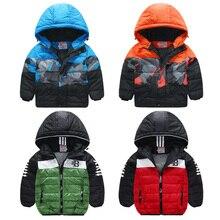 Boys child thickening wadded jacket outerwear baby boy jacket winter 2017 baby child cotton-padded fashion sports jacket